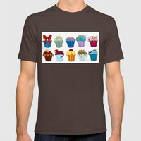 The Princess Cupcake Collection  Mens Fitted Tee Brown SMALL