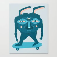 Skater Bunny Canvas Print