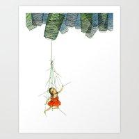 Marionette Girl Art Print