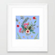 Blue Bouquet Framed Art Print