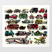 On Our Way. Art Print