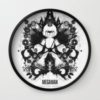 Megaman Geek Ink Blot Te… Wall Clock