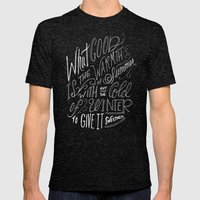 WINTER - Steinbeck Quote Mens Fitted Tee Tri-Black SMALL