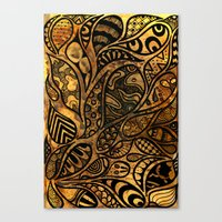 Autumnal Tangles Canvas Print