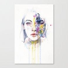 miss bow tie Canvas Print
