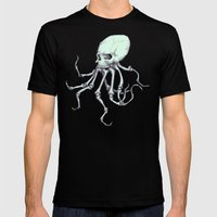 Skellingpus Mens Fitted Tee Black SMALL