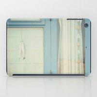 Beach Hut Window - Blue iPad Case