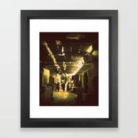 Marrakesh street life Framed Art Print