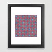 Spinners Pattern Framed Art Print