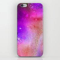 Purple Sparkles iPhone & iPod Skin