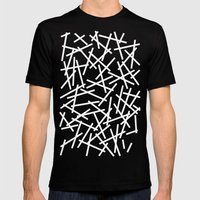 Kerplunk Black and White Mens Fitted Tee Black SMALL