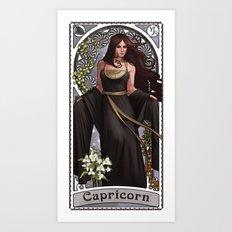 Zodiac Art Show - Capricorn Art Print