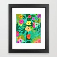 BLUSH TROPIC Framed Art Print