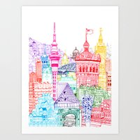 New Zealand Towers  Art Print