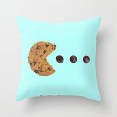 PACKMAN COOKIE Throw Pillow