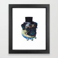 Sir Pugs Framed Art Print