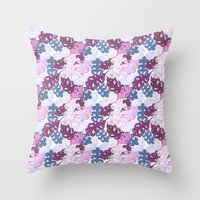 Rococo Leaves Throw Pillow