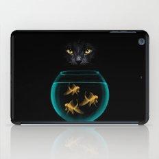 Black Cat Goldfish iPad Case