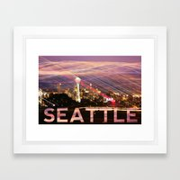 Seattle long exposure  Framed Art Print