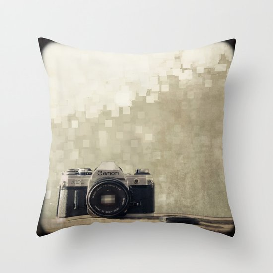 film camera  Throw Pillow