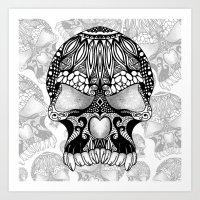 sugar skull Art Prints featuring Sugar Skull.  by Digi Treats 2