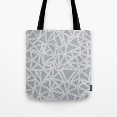 Shattered Ab Grey and White  Tote Bag
