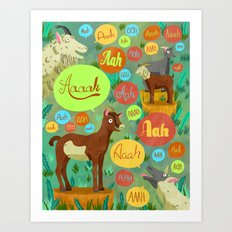Screaming Goats Art Print