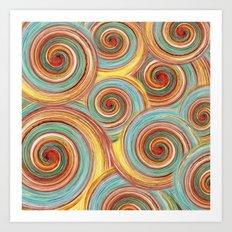 Spin Me Some Colour Art Print