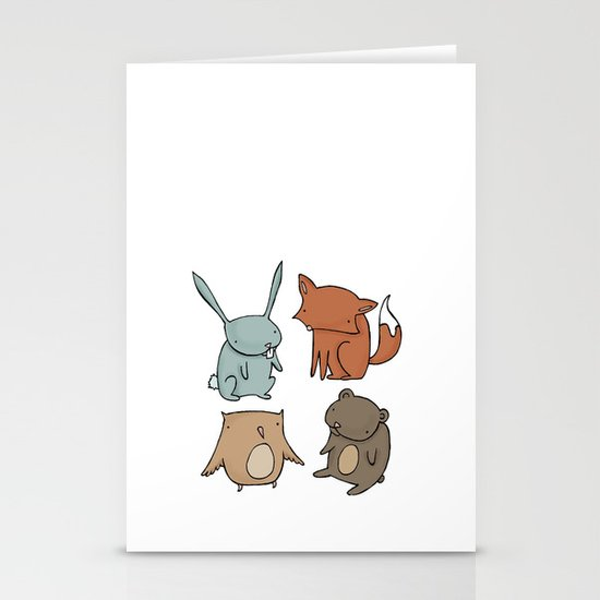 Woodland Animals Stationery Card