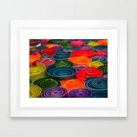 Rolled Color 2 Framed Art Print