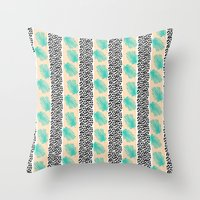 Palm Leaf Abstract Throw Pillow