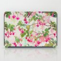 Rainbow Fuchsia Floral Pattern iPad Case