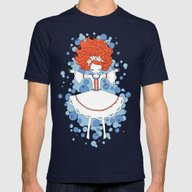Blueberry Dream Mens Fitted Tee Navy SMALL