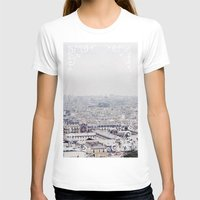 WINTER IN PARIS Womens Fitted Tee White SMALL