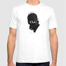 Doh – Homer Simpson Silhouette Quote White Mens Fitted Tee SMALL