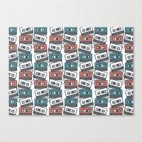 Cassette Tape Pattern Canvas Print