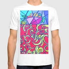 Top of the World Mens Fitted Tee White SMALL
