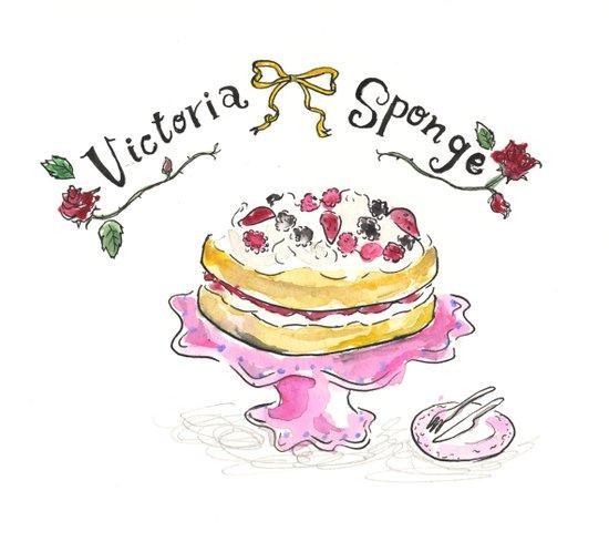 Victoria sponge Art Print