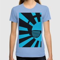 Rising DJ Red Womens Fitted Tee Athletic Blue SMALL