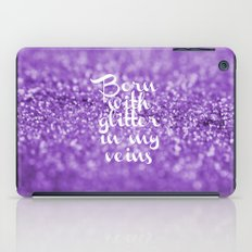 Glitter in my Veins III (Photo of Glitter) iPad Case