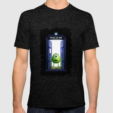 Tardis Monster inc Mens Fitted Tee Tri-Black SMALL