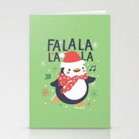 Fa la la penguin Stationery Cards