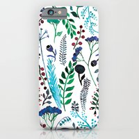 iPhone & iPod Case featuring Plant pattern by Anastasia Tayurskaya