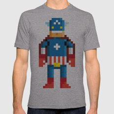 Pixelman America Mens Fitted Tee Athletic Grey SMALL