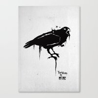 A Crow Canvas Print