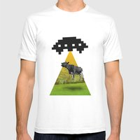 Invader Mens Fitted Tee White SMALL