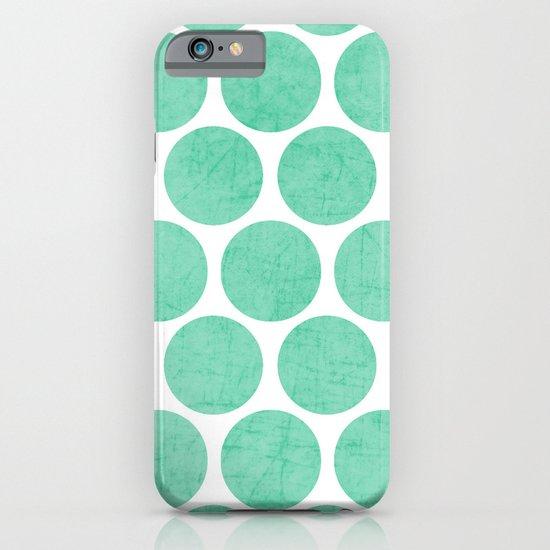 mint polka dots iPhone & iPod Case