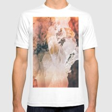 Dreamy Large Quartz Crystals SMALL Mens Fitted Tee White