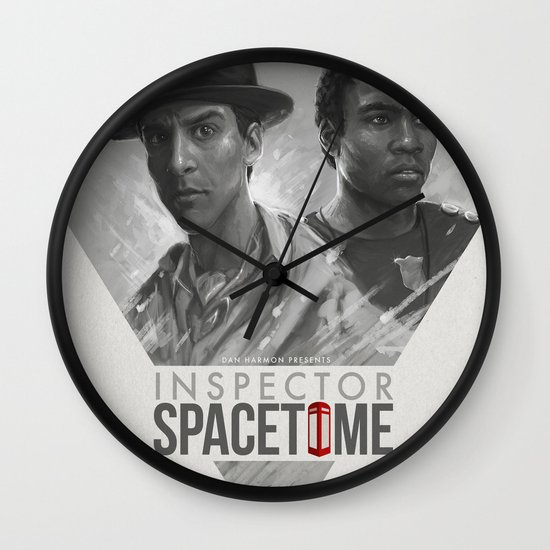 Inspector Spacetime  Wall Clock