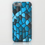 Turquoise And Black Mosa… iPhone 6 Slim Case